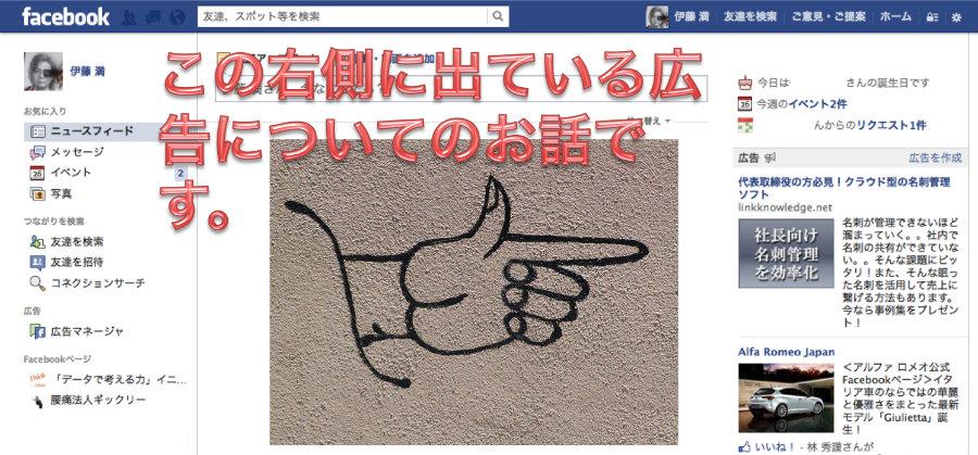 Facebook広告のお話です。